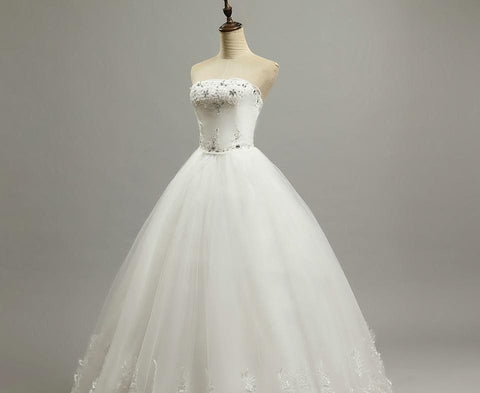 Bride Dress Wedding Dresses Large Bow - briskeys-deals