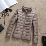 Womens parka jacket ultra light hooded coat - Briskeys Deals
