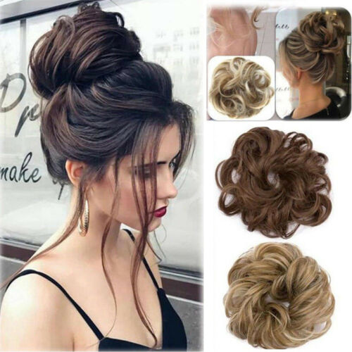 Curly Messy Bun Hair Piece Scrunchie Hair Bun, Scrunchie, Wigs