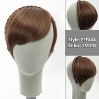 Short Braid Blunt Bangs Natural Tidy Hairpieces  Synthetic Women Hair
