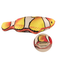 Electronic wiggling cat fish toy