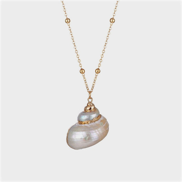 Boho Conch Shell Necklace Shell Gold Chain Necklace