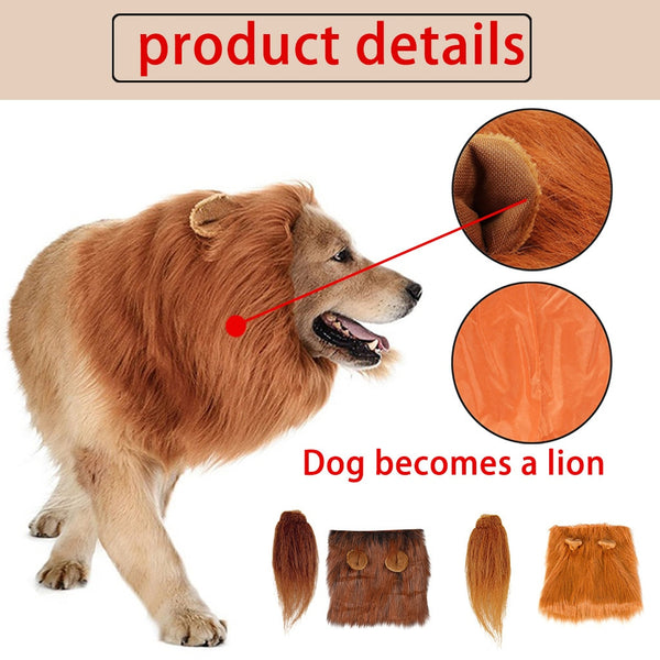 Dog lion fur to make your pet turn into a lion