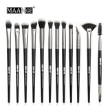 3/5/12 pcs/lot  Makeup Brushes Set Eye Shadow Blending Eyeliner Eyelash Eyebrow Brushes
