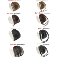 4 Color Clip Synthetic Fake Bangs Hair Piece Clip In Hair Extensions Hair Bangs, Hair Clip, Hair Extensions