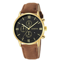 Men Synthetic Leather Analog Quartz Sport Watch