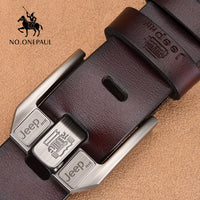 Men's Genuine Leather High Quality Belt Cowskin