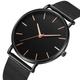 Men Casual Watches Simple Metal Hour Mesh Stainless Steel accessories