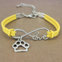 Dog Paws Best Friends Heart Unicorn Animal Infinity Love Charm Bracelets Silver
