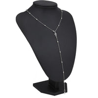 Simple Style Long Sweater Crystal Beads Necklaces & Pendants for Women Clavicle Charm Chain Jewelry