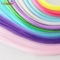 Clip Hair Colorful Hair Extension Fluorescence Fake Hair Heat Resistant Fiber Synthetic Hair Extension