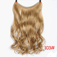 24inch Invisible Wire No Clip One Piece Halo Hair Extension