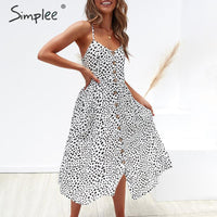 Simpleee Elegant Dress Pocket polka dots yellow plus size