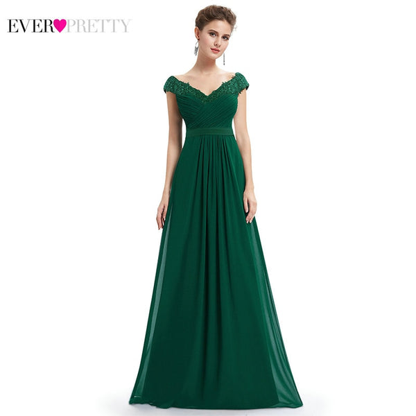 Elegant A Line V Neck Evening Dress Party Gowns Plus Size