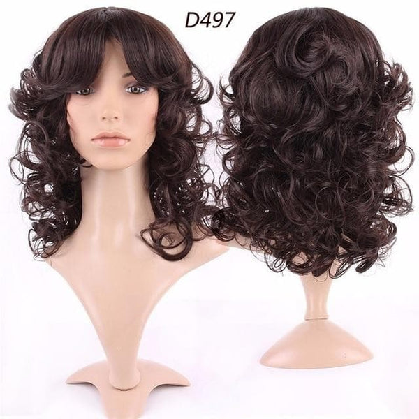 Wig For Black Women with full Bangs real natural for human party Wigs