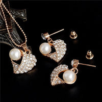 ZOSHI Golden Plated Jewelry Sets For Women Luxury Wedding Bridal Earring, Necklace, Wedding Jewelry
