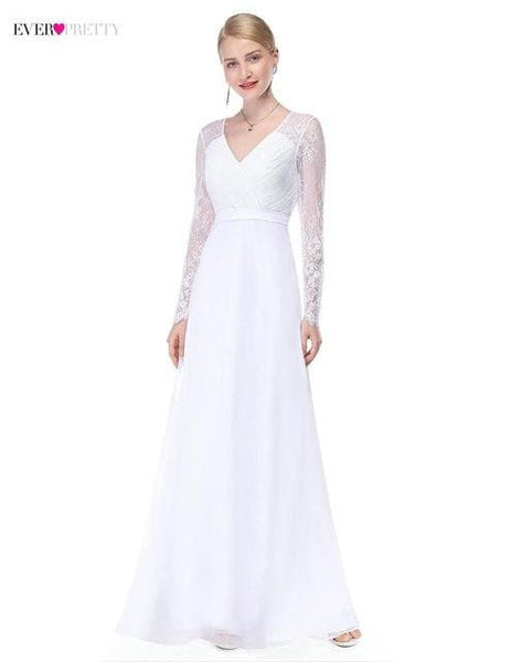 Long Sleeve Wedding Dresses - Briskeys Deals