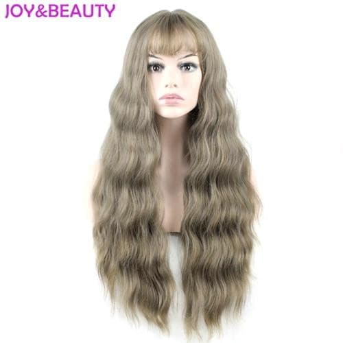 Ultra-thin bangs Long Curly Wig Synthetic Wigs - Briskeys Deals