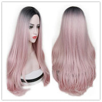 Straight Wigs For Women Ombre Pink/Grey/BUG - Briskeys Deals