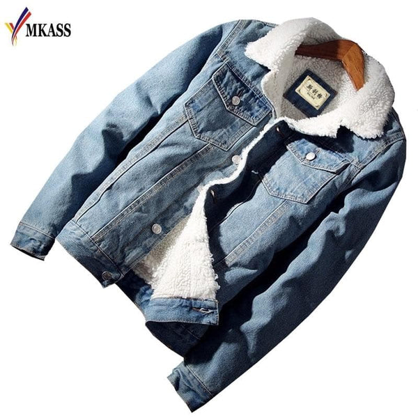 Mens Jean Jacket and Coat Trendy Warm Fleece Denim jackets, mens, Mens Jackets