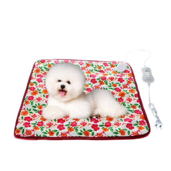 40*40cm 220V Warm Pet Cat Dog Electric Heated Heating Pad Mat Blanket Bed