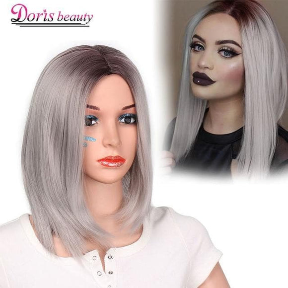 Beauty 15 Colors bob wigs strait hair for women synthetic - briskeys-deals