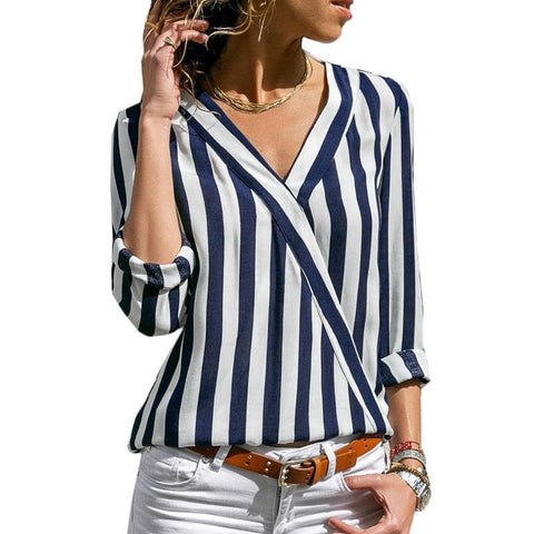 Striped blouse | Black and white striped blouses | Womens blouses - briskeys-deals