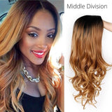 Long Ombre Brown Wavy Wig Blonde Cosplay - Briskeys Deals