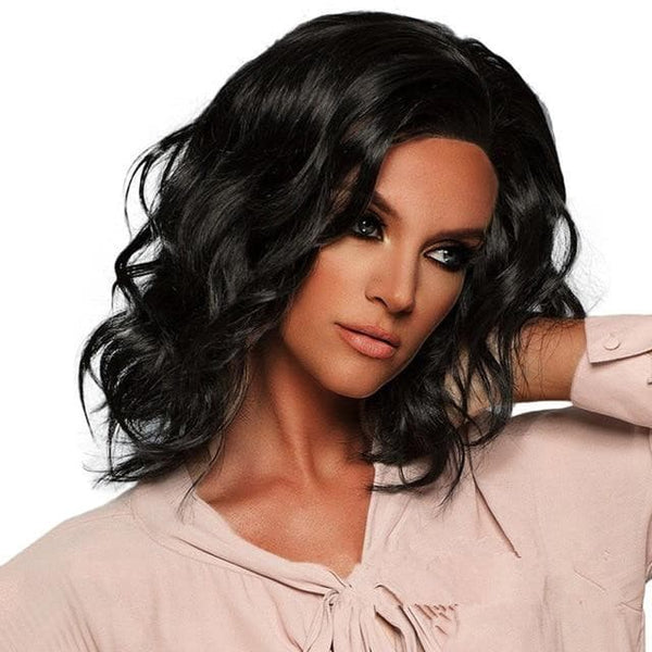 Sexy Black Wavy Short Laced Front Human Hair Wigs - briskeys-deals