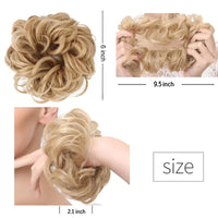 Women Elastic Scrunchies Hair Piece Bun Hair Tail - briskeys-deals