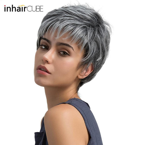 Beautiful Hair Wig Synthetic Short Straight Wig For Women