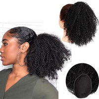Black Womens Afro Puff Afro Kinky Curly Ponytail African American - briskeys-deals