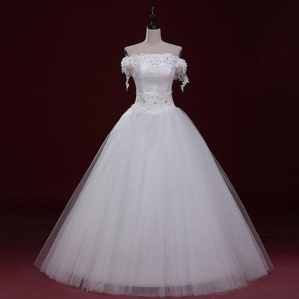 Wedding Dresses Strapless Lace Formal Wedding Dresses