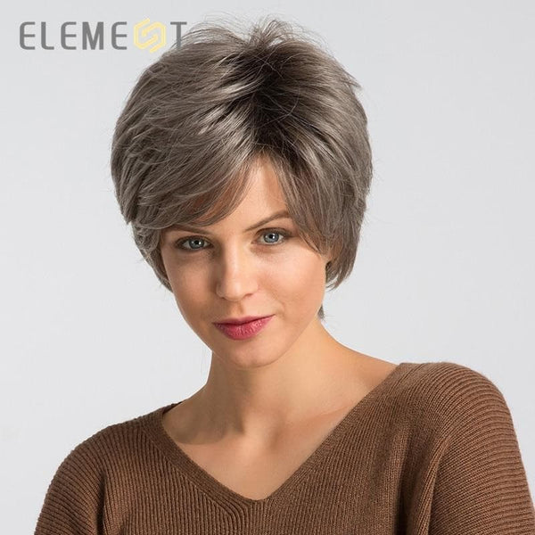 Beautiful Wig 6 inch Synthetic Blend 50% Human Hair Wigs