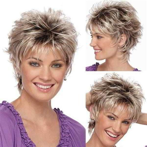Synthetic blonde short bob wigs for women beauty hair Short Hair, Wigs