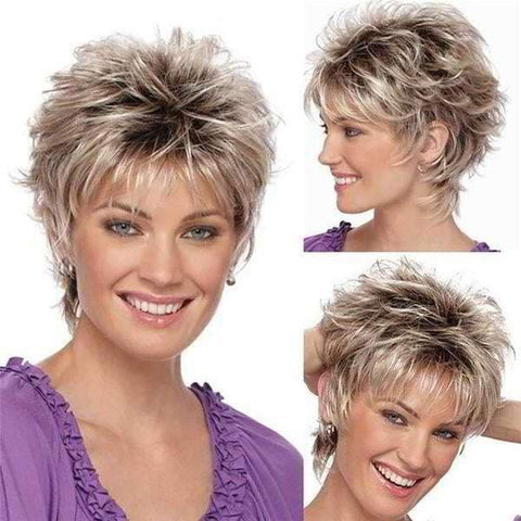 Beautiful wig for women with a sexy short hair blonde fade - briskeys-deals