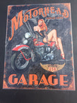 RETRO METAL BIKERS SIGN 40 X 30 CM  MOTORHEAD