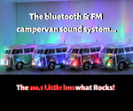"Camper van Bluetooth FM Sound System (( MARCH OFFER))   "" The Magic bus "" NO1 portable  Sound system"
