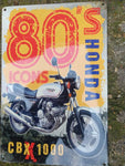 METAL SIGN , HONDA CBX    80s