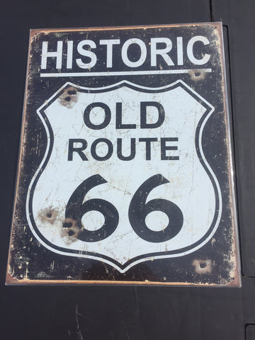 Metal sign Route 66 40 x 30cm  Old route 66 classic sign
