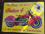 Metal sign retro 30 x 40 cm Indian 4 Motor bike