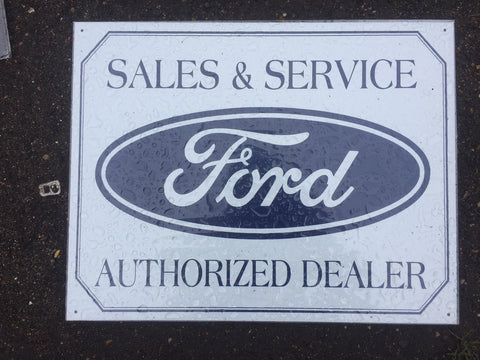 METAL SIGN FORD SALES AND SERVICE   30 X40 CM