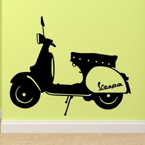 B42 VESPA wall stickers bedroom lounge mod motorbike sticker art vinyl Movable car wall sticker Decal for Living room Home Decor