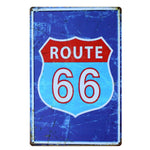 [ Mike86 ] Route 66 Simple vintage tin sign Bar decor 20*30 CM Mix Items B-314
