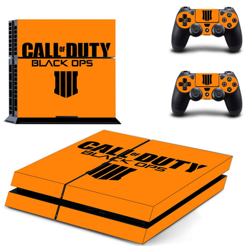 PS4 Skin Stickers Decal For Playstation 4 +2 Controllers Skin - Call Of Duty Black OPS 4