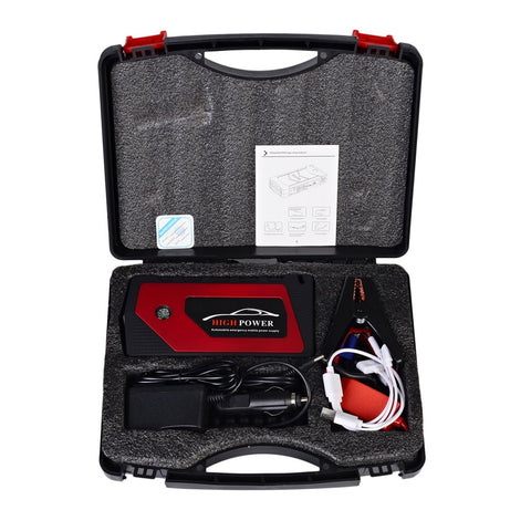 12V 89800mah Car Charger Jump Starter Emergency Mobile Power Bank Tool Kit