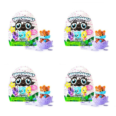 Hatchimals eggs mini magical egg puzzle simulation male and female hatching magical children's toys (4pcs Random )