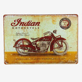 Vintage Metal Tin Signs BSA Motorcycle indian motor Gas Oil Club Garage Plate Pub Home Decor Craft Wall Decor