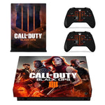 Call Of Duty Black OPS 4 Full Faceplates Skin Console & Controller Decal Stickers for Xbox One X Console + Controller Skin