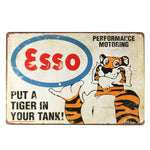 Tiger Vintage Retro Metal Tin Sign Poster Plaque Bar Pub Kitchen Home Cafe Coffee Shop Decor Wall Art Painting Gift 20x30cm